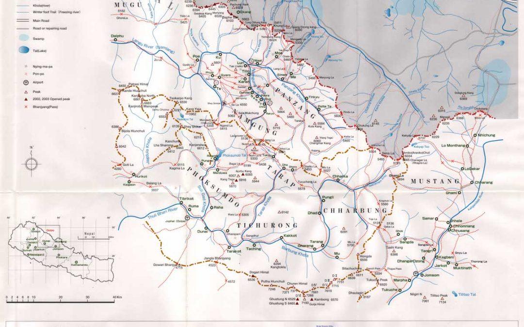 Les cols du Dolpo permettant de rejoindre le Tibet !
