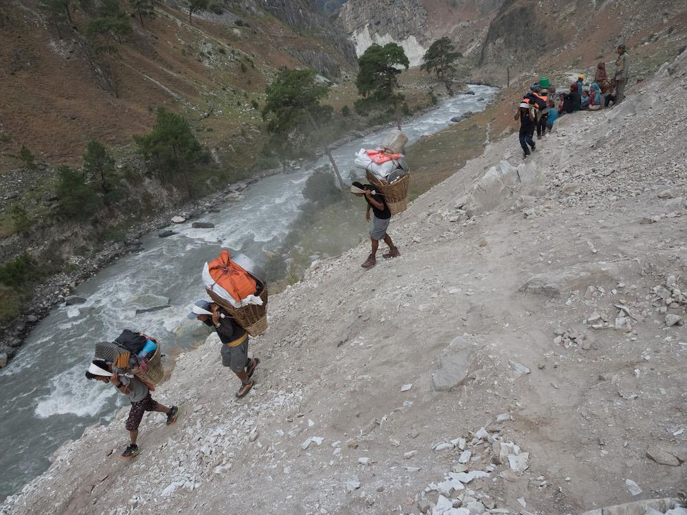 La route d'accès au Dolpo